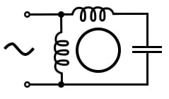 Permanent-split capacitor induction motor