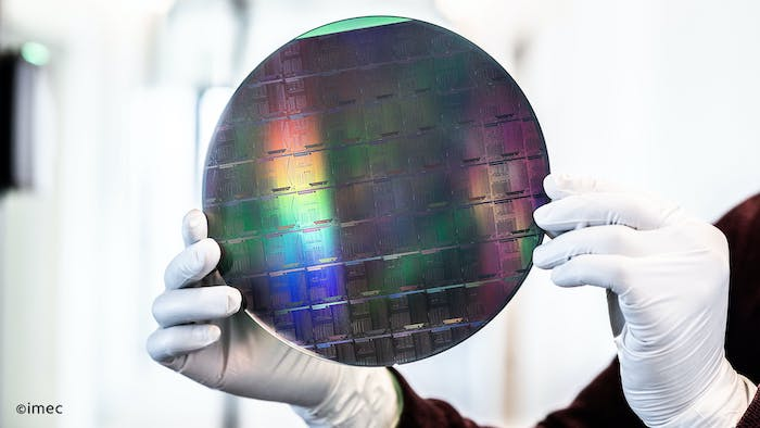 A silicon-nitride photonic IC manufactured by imec.