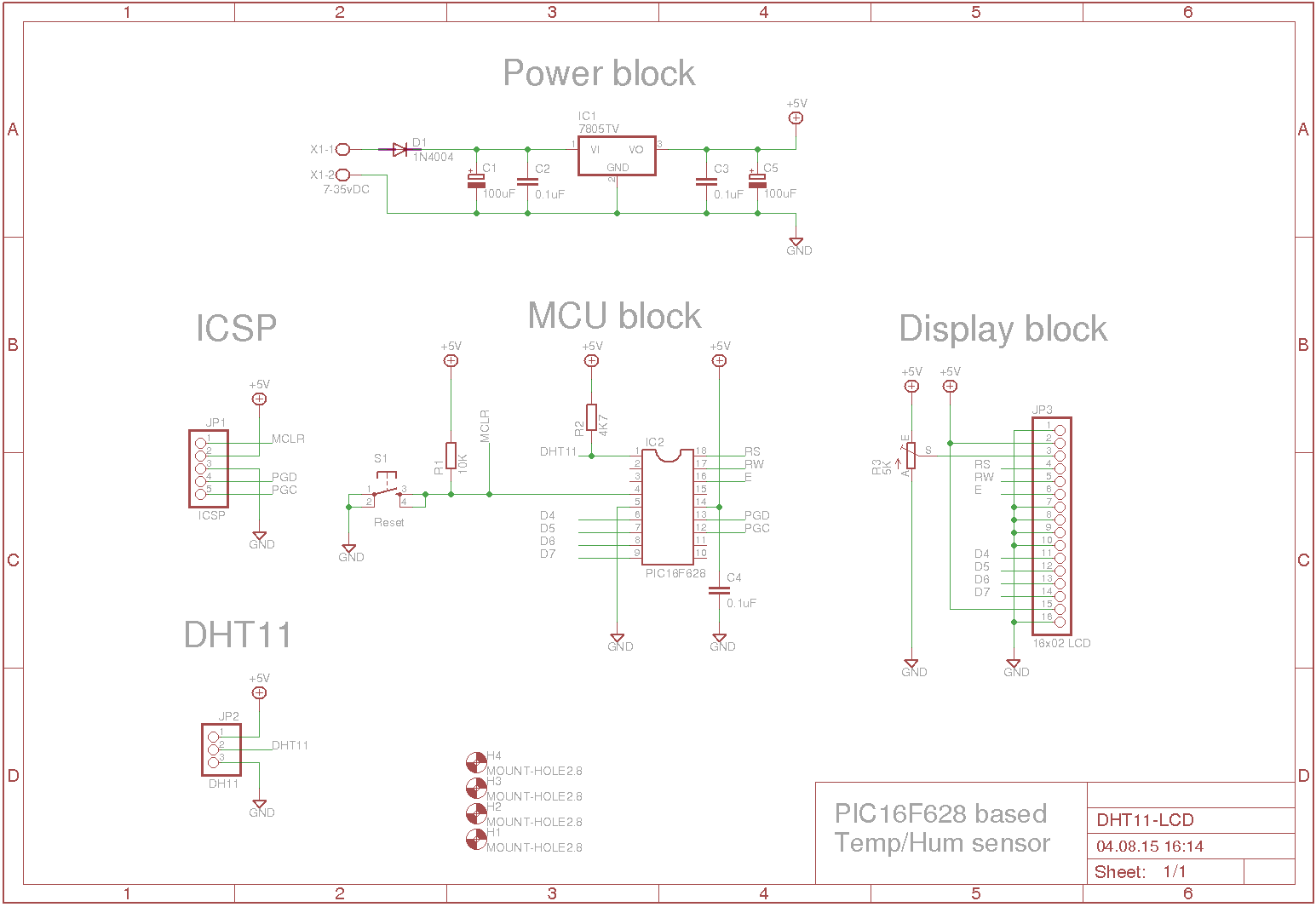 how to use a dht11 with a pic16f628a and lcd