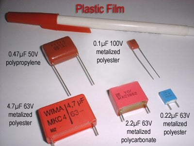 plastic film type capacitor