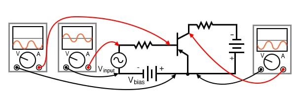 PNP version of common emitter amplifier.