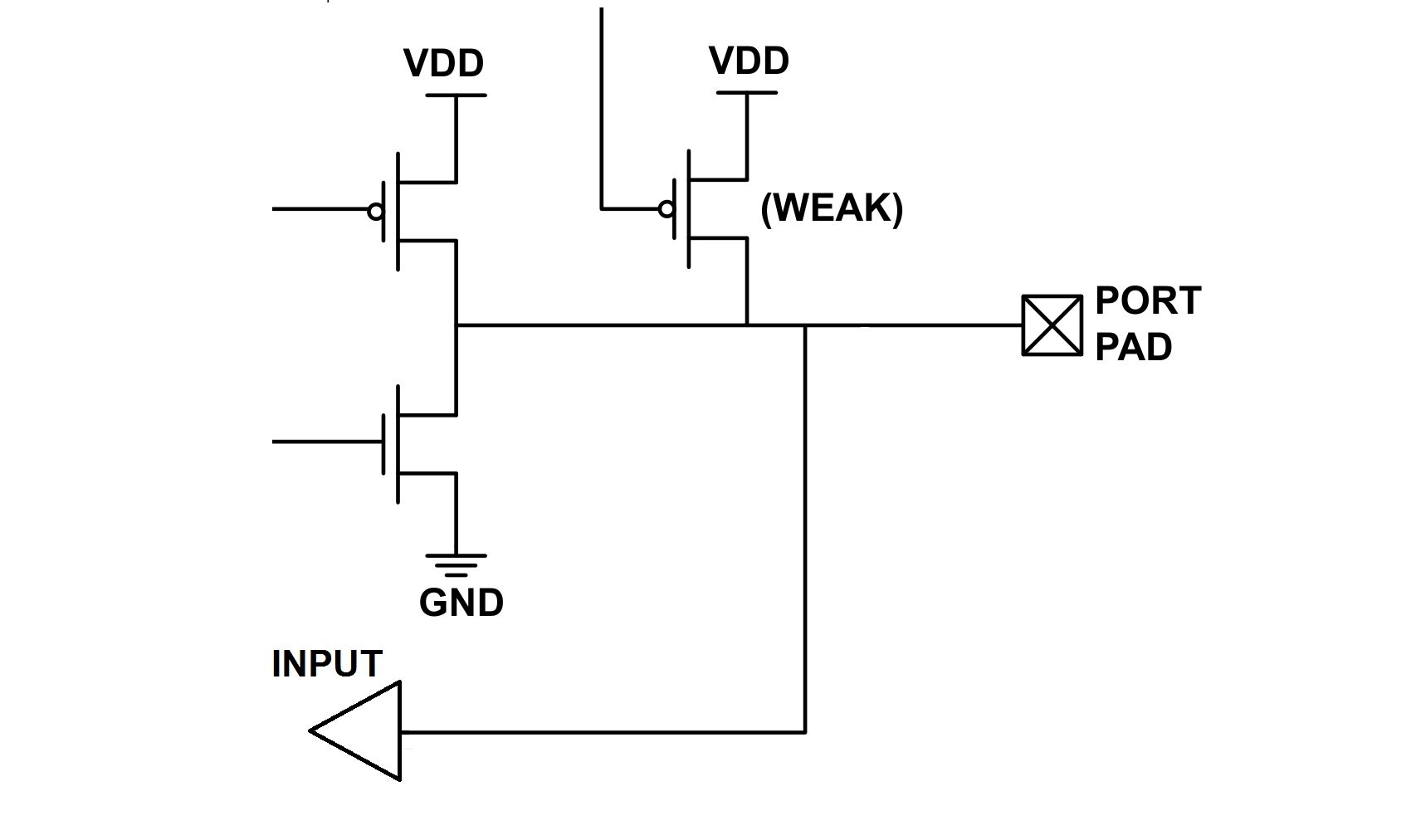 Controlling An Lcd Via Spi Introduction To Project Development Timing Diagram This Represents A Port Pins Input Output Circuitry The Transistor Labeled Weak Functions As High Value Resistor About 200 K