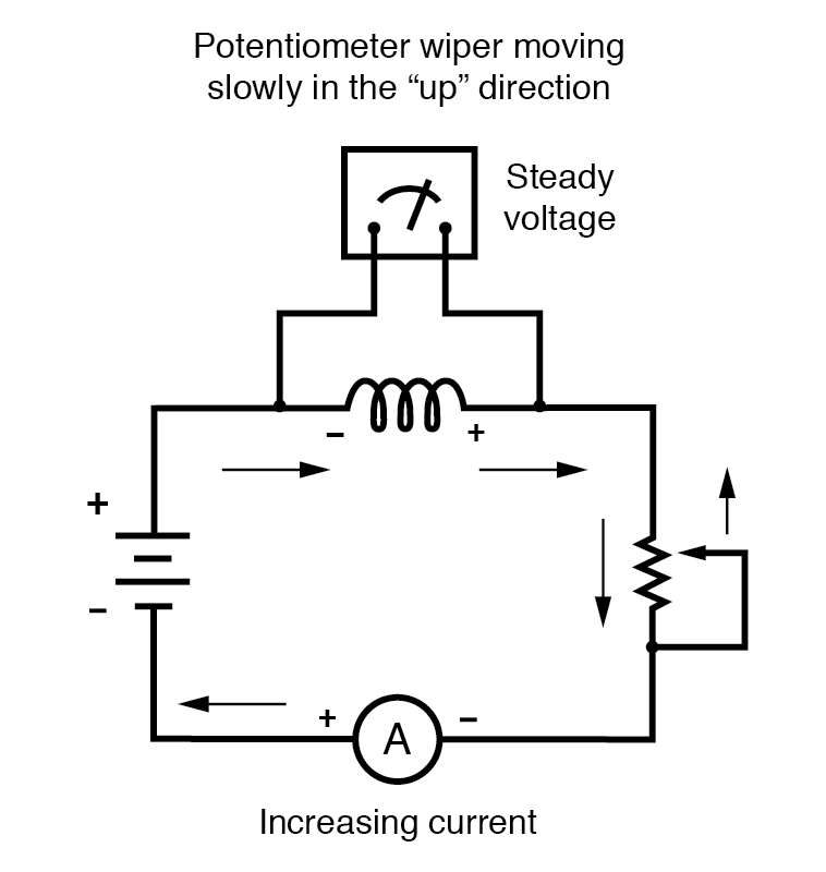 potentiometer wiper increasing current