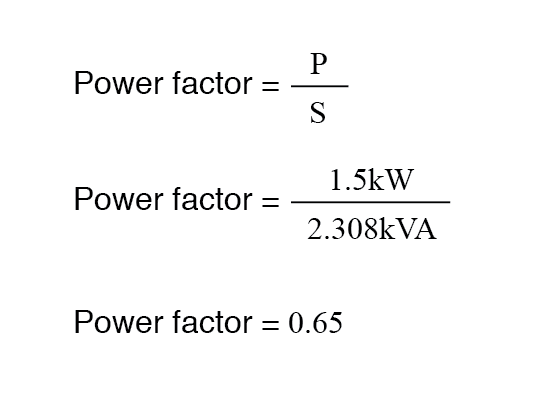 power factor equation