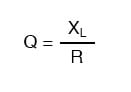 quality factor equation