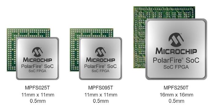The PolarFire SoC FPGA can reach a footprint as small as 11mm x 11mm.