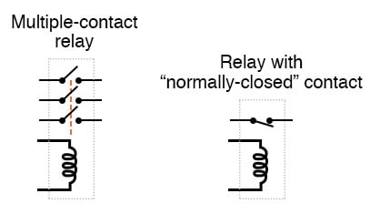 relays multiple switch contacts