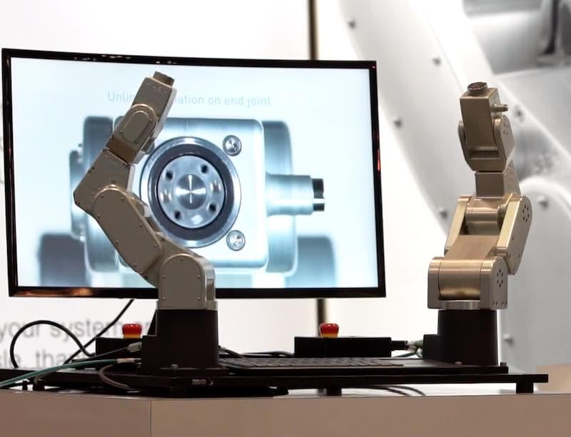A robotics product presentation at ATX West.
