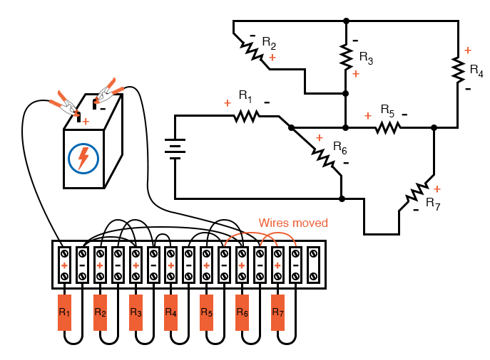 below illustrates my wiring scheme after it is all put togetherbuilding series parallel resistor circuits series parallelfor the sake of consistency, it might be wise