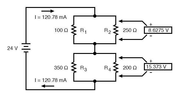 analysis techniques for series parallel resistor circuits seriesapplying ohm\u0027s law to the remaining vertical columns (i\u003de r), we can determine