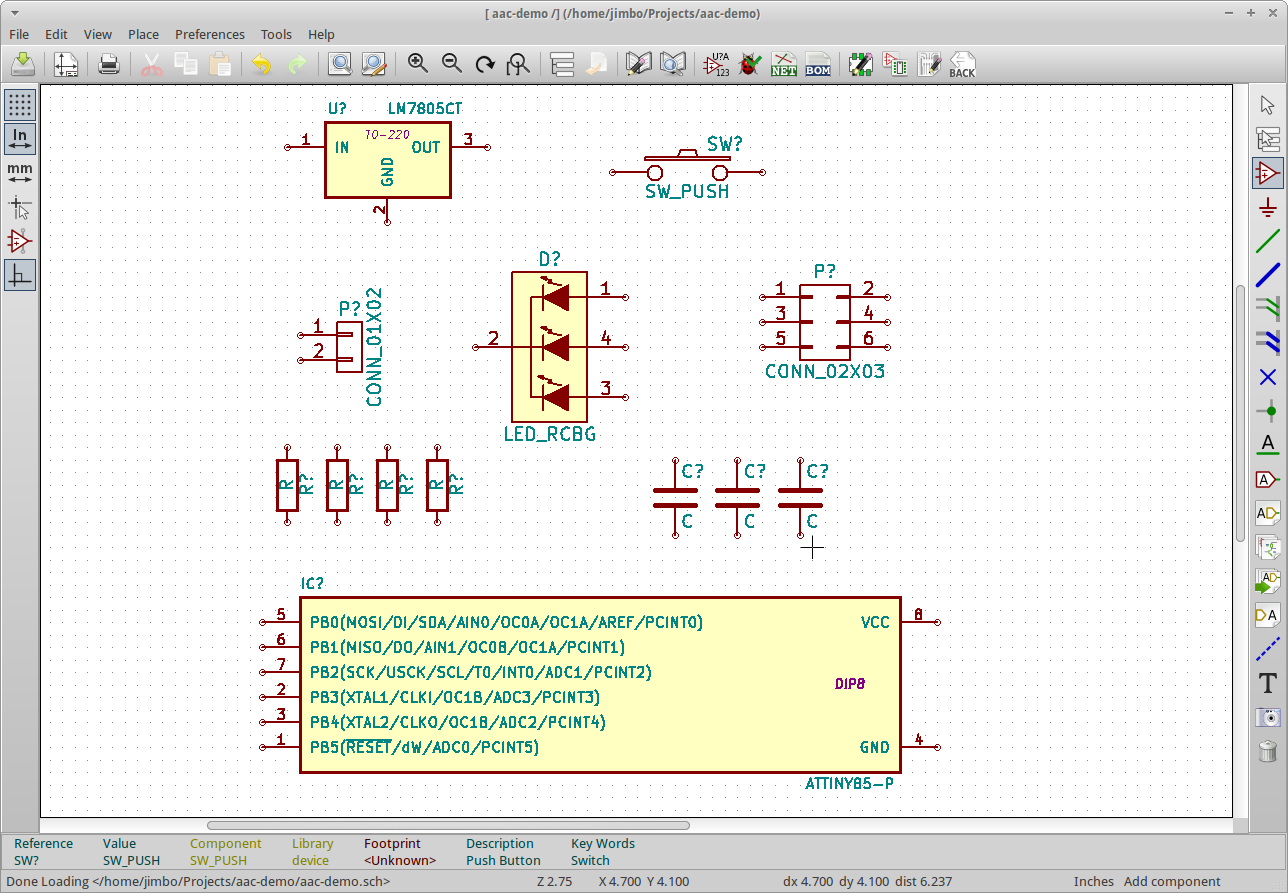 Introduction To Kicad On Ubuntu Ve Also Been Looking For The Schematics And Gerber Files But They Schematic With Parts2