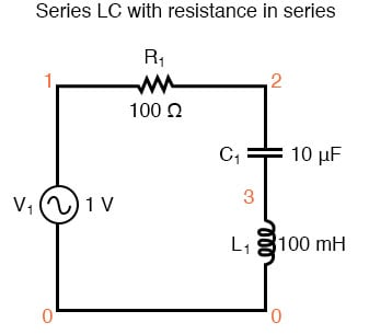 Series LC with resistance in series.