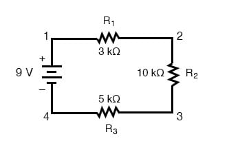 series multiple resistors circuit 2