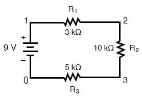 series multiple resistors circuit 3