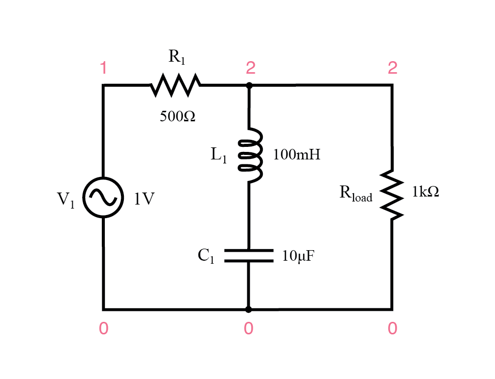 Series resonant band-stop filter.