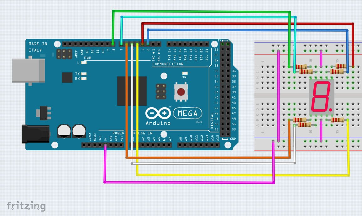 Interface A Seven Segment Display To An Arduino Led Circuit Diagram Wiring