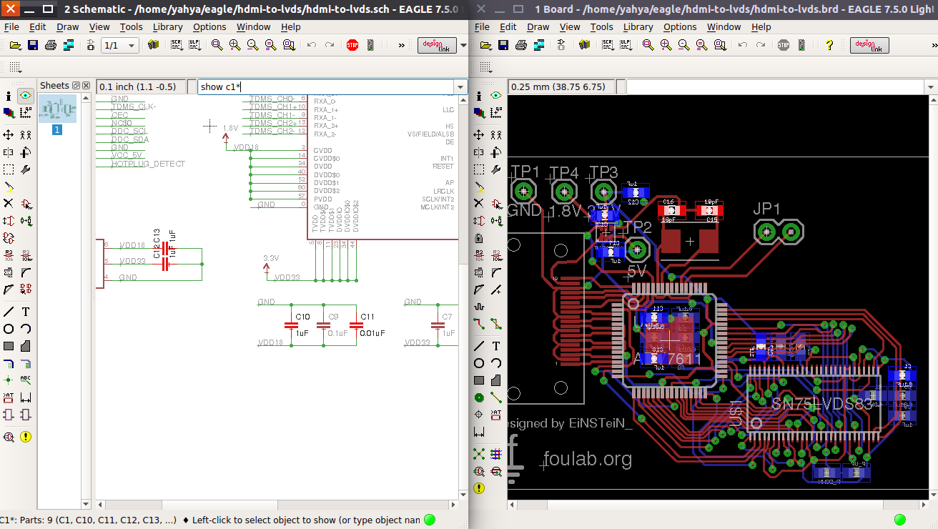 Show Tool between schematic and PCB