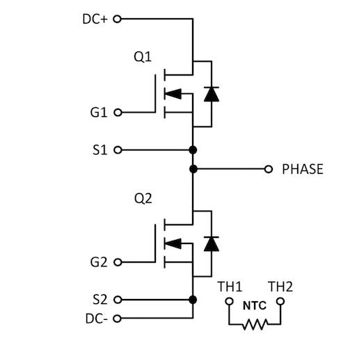 NXH006P120MNF2 Schematic Diagram.