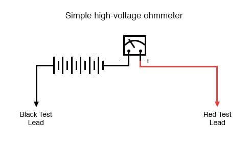 simple high voltage ohmmeter