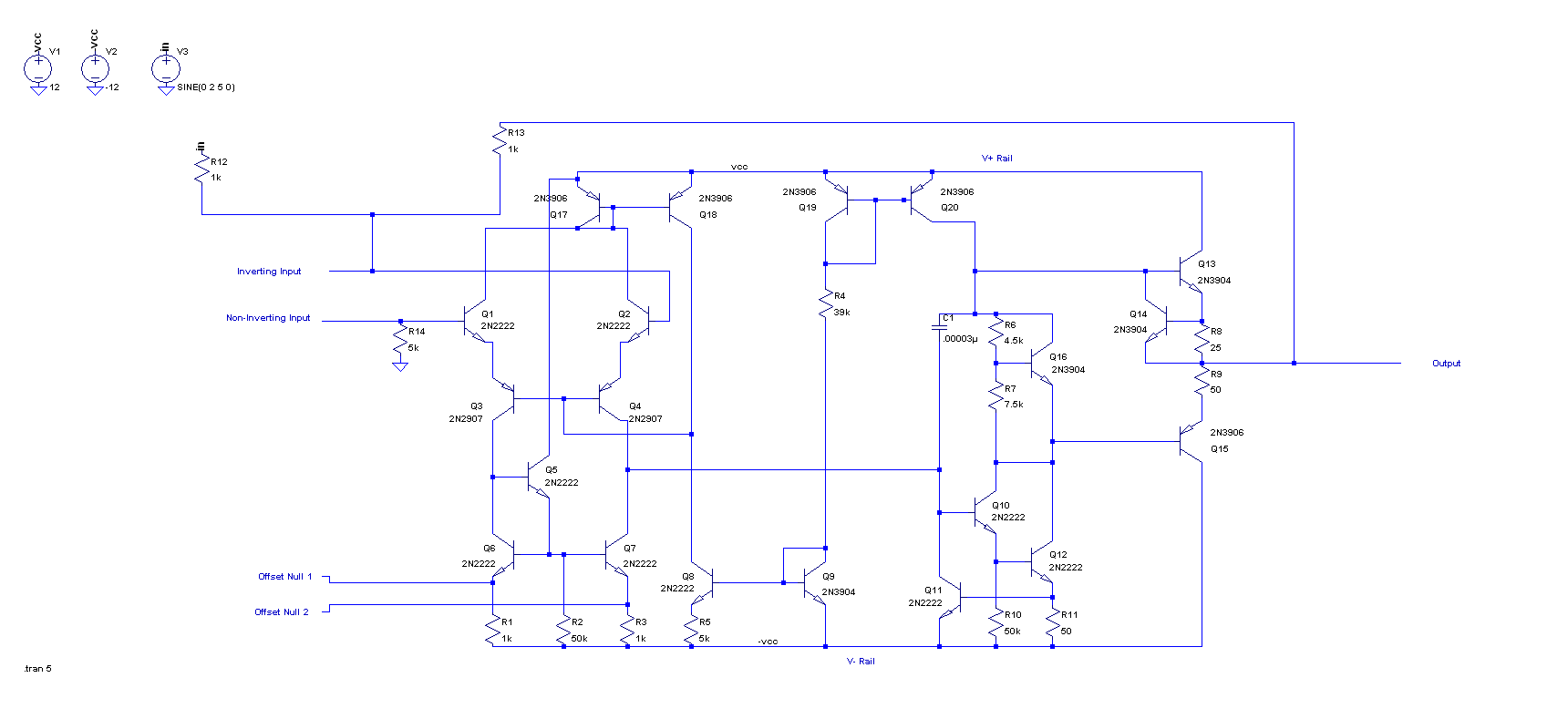 Use Ltspice To Understand The Lm741 Opamp Part 2 Inverting Amplifier With Class Ab Simulating An Unity Gain Click Enlarge