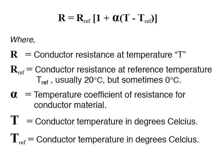 specific resistance table formula