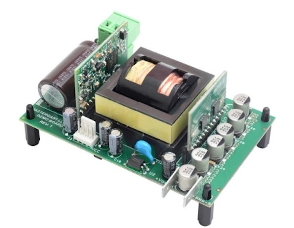A reference design example from STMicroelectronics for its MasterGaN1.