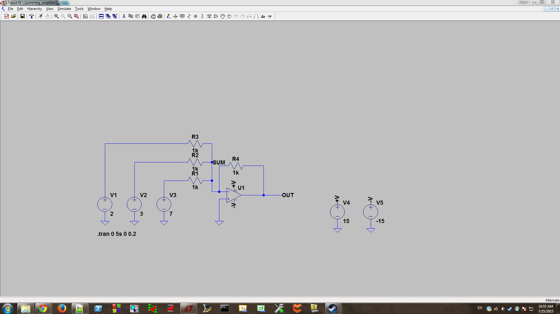 Basic Circuit Simulation With Ltspice Build Notes Negative Power Supply Schematic Click For Full