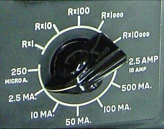 switch set to 2.5 mA