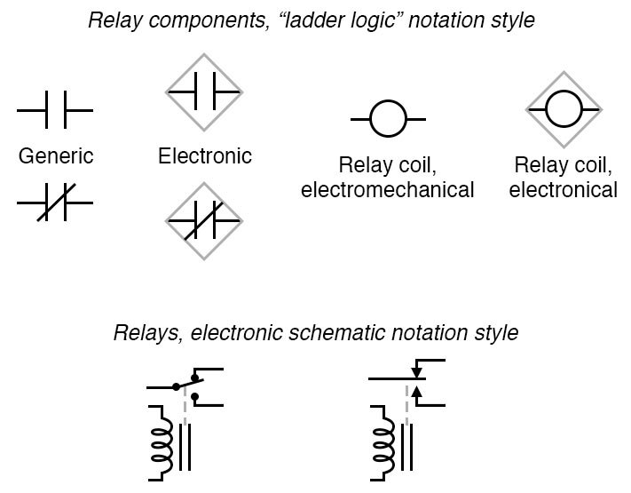 electronic schematics symbols circuits switches  electrically actuated  relays  circuit schematic  switches  electrically actuated  relays