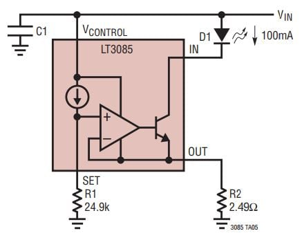 need a current regulator? use a voltage regulator!