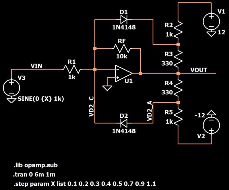 An Op-Amp Limiter: How to Limit the Amplitude of Amplified Signals on audio clips, inverter schematics, relay schematics, audio mixer circuit, generator schematics, led schematics, audio circuit books, audio splitter circuit, audio amp schematic, audio circuit symbols, lm3914 schematics, radio schematics, audio circuit design,