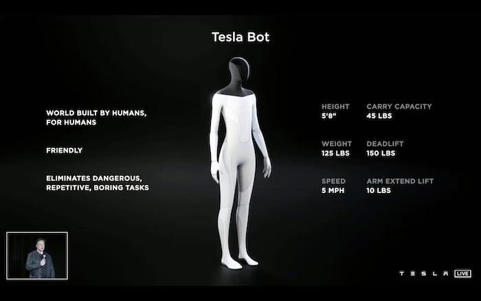 The concept design for a Tesla Bot.