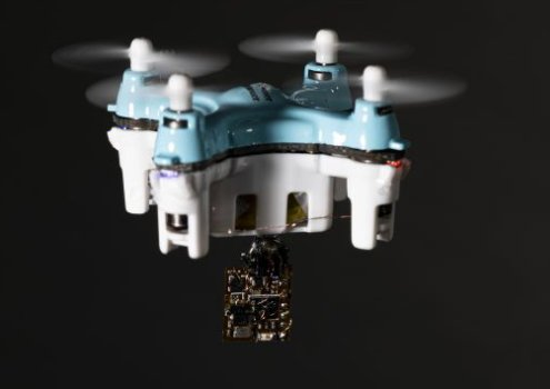 The sensor can also be dropped by a small drone