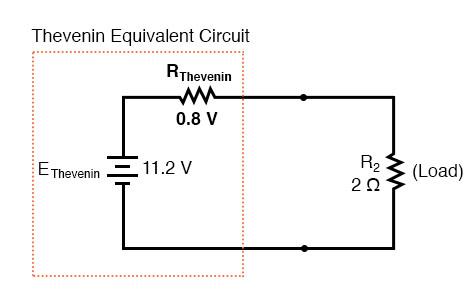 thevenin resistance equivalent circuit diagram