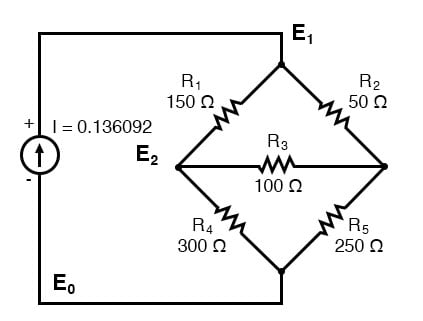 three nodes schematic diagram