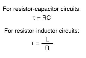 Voltage and Current Calculations | RC and L/R Time Constants
