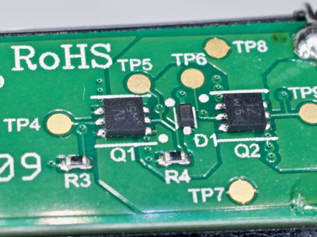 控制电磁铁的MOSFET