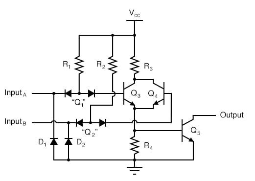 TTL Circuit Analysis Diagram 2