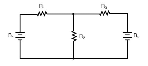 two battery circuit