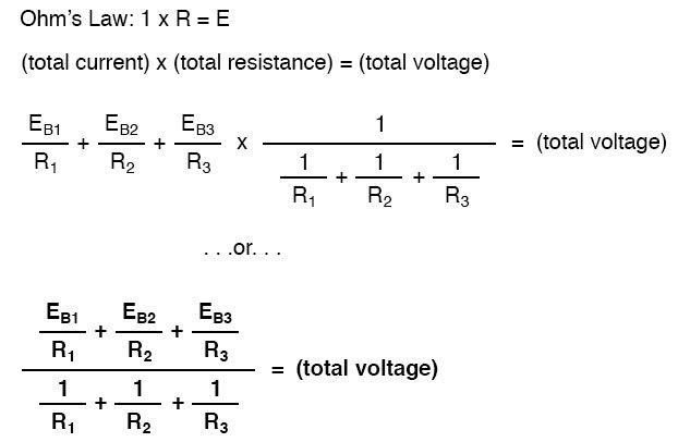 two equations for total circuit and total resistance