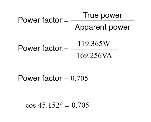 Calculating Power Factor | Power Factor | Electronics Textbook