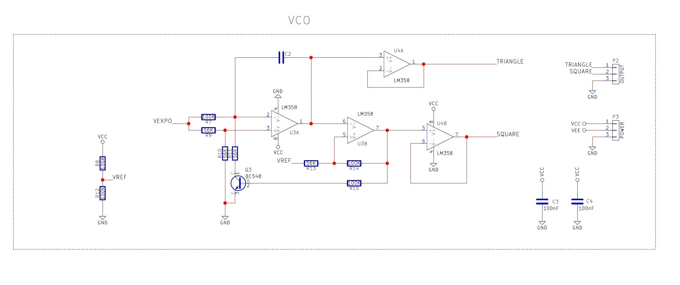 Diy Synth Series Part 1 The Exponential Vco Audio Mixer Inverting Summing Circuit Diagram Layout