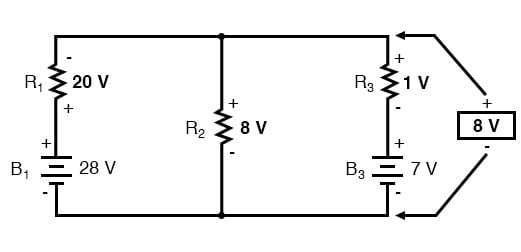 voltage across parallel branches