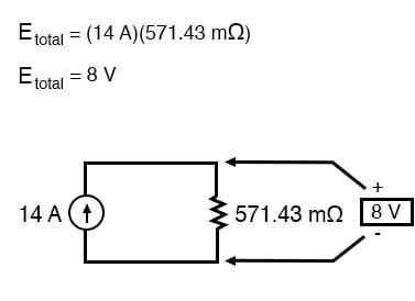 voltage across two components