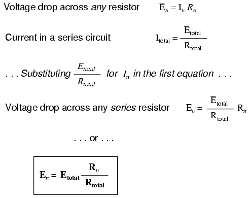 voltage divider circuits divider circuits and kirchhoff\u0027s lawswith a little bit of algebra, we can derive a formula for determining series resistor voltage drop given nothing more than total voltage,