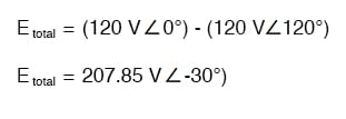 "Nominally, we say that the voltage between ""hot"" conductors is 208 volts"