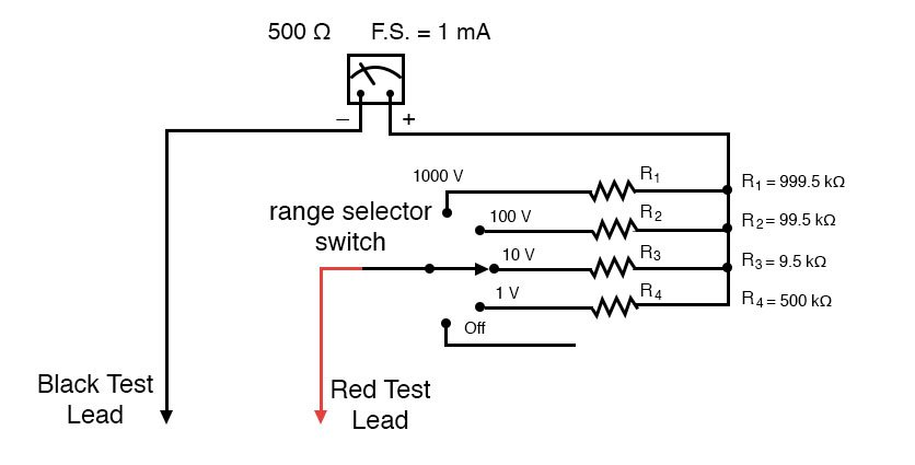 High Impedance Test Voltmeter Schematic