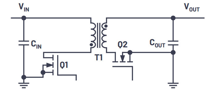 Structure of a typical flyback regulator