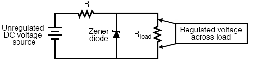 Zener diode voltage regulator.