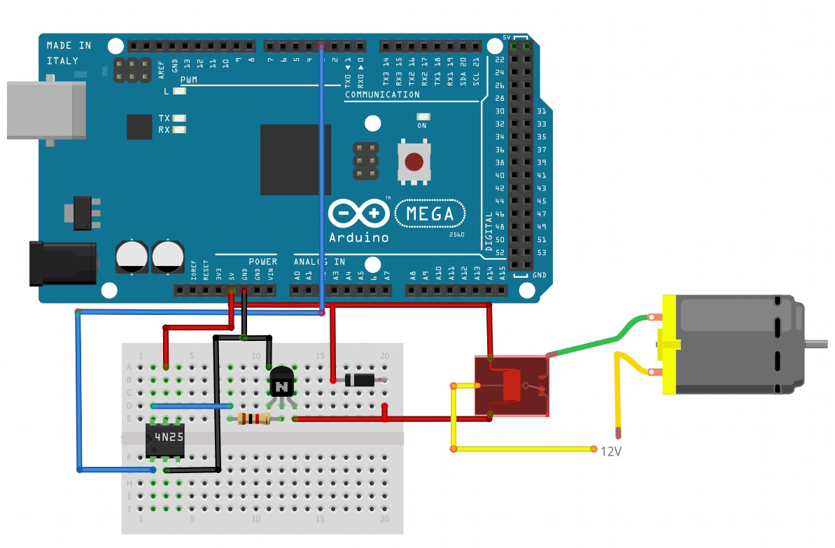 use relays to control high voltage circuits with an arduino rh allaboutcircuits com wiring arduino relay module Arduino Relay Shield Schematic